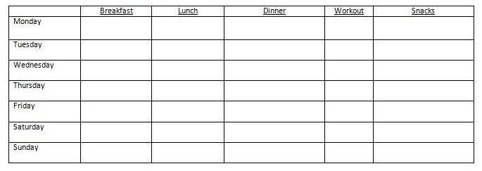 meal prep template